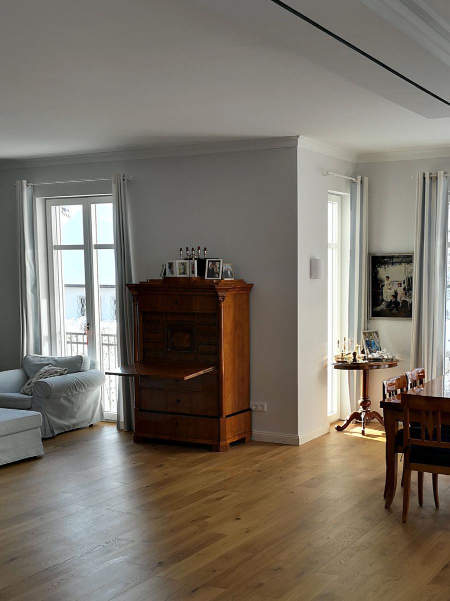 Malereibetrieb München Taufkirchen - Roberto Biancu - Wohnzimmer nachher